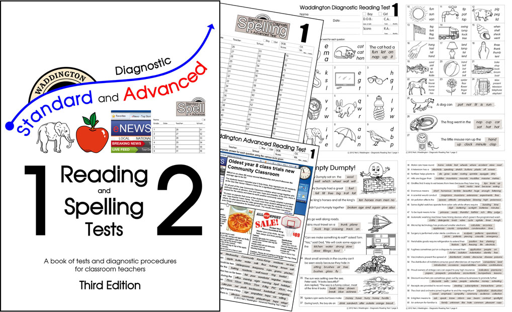 How Long Do You Keep Receipts Pdf Waddington Educational Resources Welcome Sales Invoice Template Free Pdf with Google Play Receipts Excel New Rd Edition Update  Waddington Diagnostic Standard  Advanced Reading  And Spelling Tests    Fake Receipts Online Excel