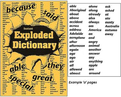 Picture of Exploded Dictionary 1st Ed Hardcopy