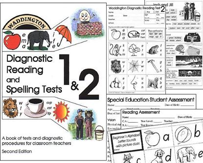 Picture of Reading & Spelling Tests 2nd Edition Hardcopy - Superseded - See 3rd Edition
