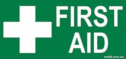 Picture of First Aid --Sign Sticker Small