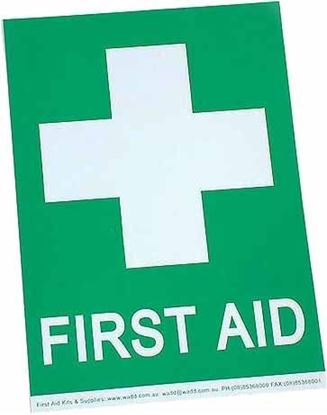 Picture of First Aid --Sign Large A4