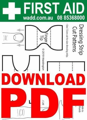 Picture of First Aid --Card Dressing Strip Cut Patterns PDF
