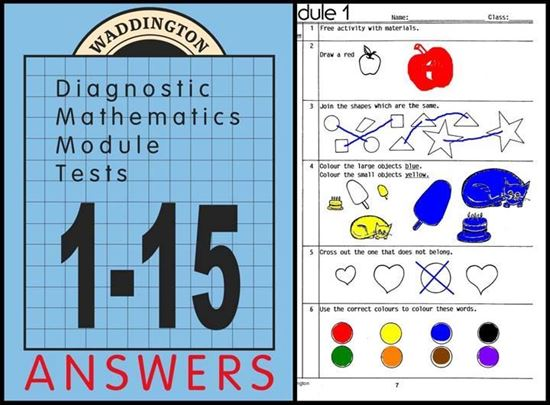 Picture of Maths Module Tests 1-15 Answers eBook