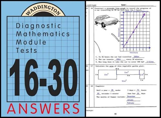 Picture of Maths Module Tests 16-30Answers eBk