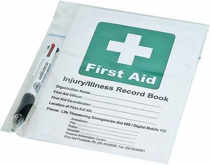 Picture of First Aid --Record Book + Pen Set