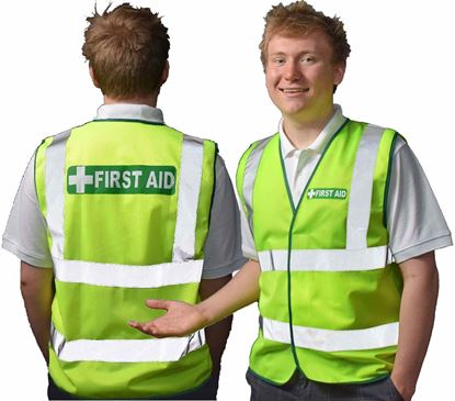 Picture of First Aid --Vest Hi-Vis D/N Regular - WEBSITE SPECIAL