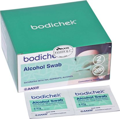 Picture of Swabs - Alcohol Wipes Box 200