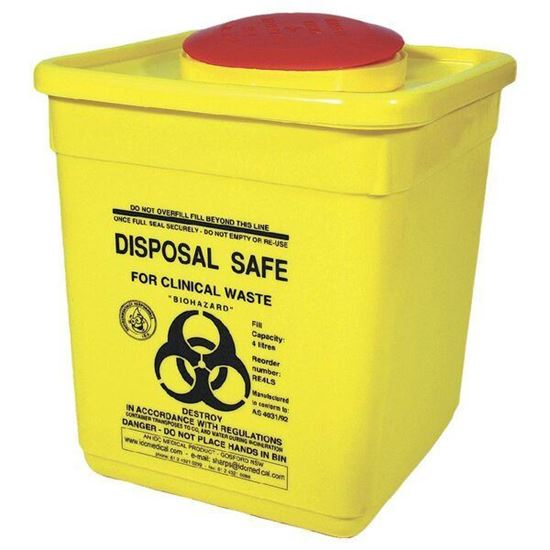Picture of Sharps/Waste Disposal Unit -4.5L NEW LARGER SIZE!
