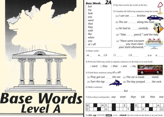 Picture of Base Words Level A eBook - CURRENTLY FREE! Go to My Account>Downloadable Products after processing.