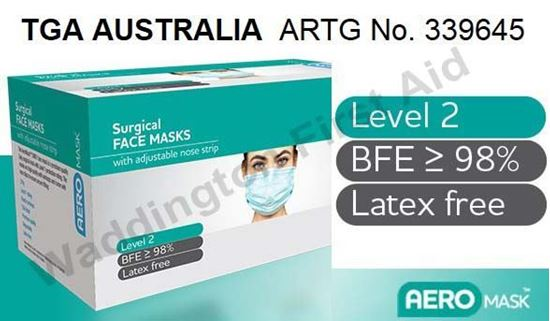Picture of Mask -Face Box 50 Surgical Level 2 BFE ≥ 98%